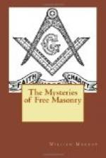 The Mysteries of Free Masonry by William Morgan