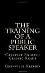 The Training of a Public Speaker by
