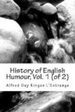 History of English Humour, Vol. 1 (of 2) by