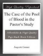 The Case of the Pool of Blood in the Pastor's Study by