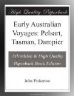 Early Australian Voyages: Pelsart, Tasman, Dampier by John Pinkerton
