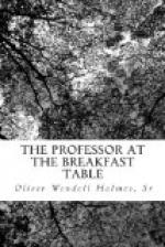 The Professor at the Breakfast-Table by Oliver Wendell Holmes, Sr.