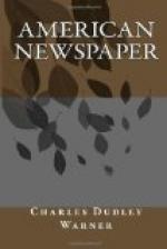 American Newspaper by Charles Dudley Warner