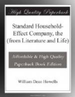 Standard Household-Effect Company, the (from Literature and Life) by William Dean Howells