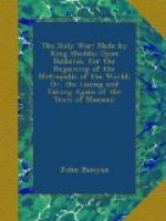 The Holy war, made by King Shaddai upon Diabolus, for the regaining of the metropolis of the world; or, the losing and taking again of the town of Mansoul by John Bunyan