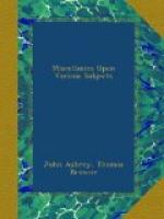 Miscellanies Upon Various Subjects by John Aubrey