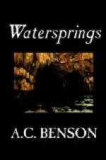 Watersprings by A. C. Benson