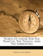Words of Cheer for the Tempted, the Toiling, and the Sorrowing by Timothy Shay Arthur