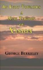 A Essay Towards a New Theory of Vision by George Berkeley