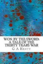 Won By the Sword : a tale of the Thirty Years' War by G. A. Henty