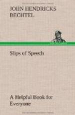 Slips of Speech : a Helpful Book for Everyone Who Aspires to Correct the Everyday Errors of Speaking by
