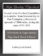 Journal of an Overland Expedition in Australia : from Moreton Bay to Port Essington, a distance of upwards of 3000 miles, during the years 1844-1845 by Ludwig Leichhardt