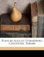 Plays by August Strindberg: Creditors. Pariah. by August Strindberg