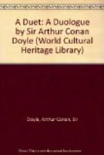 A Duet : a duologue by Arthur Conan Doyle