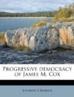 The Progressive Democracy of James M. Cox by