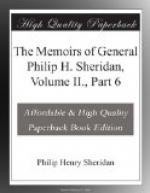 The Memoirs of General Philip H. Sheridan, Volume II., Part 6 by Philip Sheridan