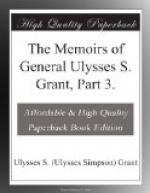 The Memoirs of General Ulysses S. Grant, Part 3. by Ulysses S. Grant