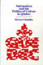 The Rise of French Nationalism in Canada by