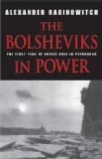 The Consolidation of the Bolshevik Revolution in Russia by
