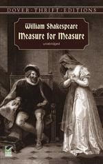 Measure for Measure,  a Problem Play by William Shakespeare