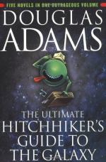 """Irony in """"The Hitchhiker's Guide to the Galaxy"""" by Douglas Adams"""