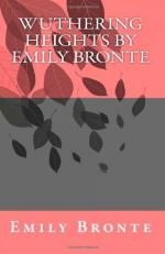 Catherine and Heathcliff in Wuthering Heights by Emily Brontë