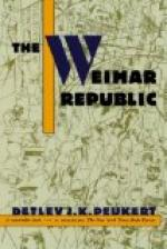 Collapse of the Weimar Republic in Germany by