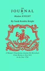 Excerpt from the Journal of Madame Knight by Sarah Kemble Knight by