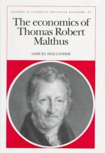 Malthus, Thomas Robert English Classical Economist and Clergyman (1766-1834) by