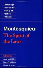 Montesquieu, Baron De (1689-1755) by