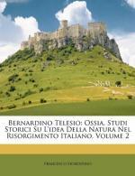 Telesio, Bernardino (1509-1588) by