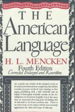 The American Language by H. L. Mencken