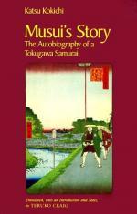 Musui's Story: The Autobiography of a Tokugawa Samurai by Katsu Kokichi