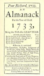 Poor Richard's Almanack by Benjamin Franklin