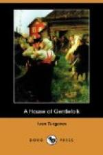 A House of Gentlefolk by Ivan Turgenev