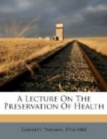 A Lecture on the Preservation of Health by