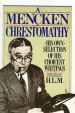 A Mencken Chrestomathy by H. L. Mencken
