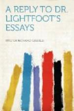 A Reply to Dr. Lightfoot's Essays by