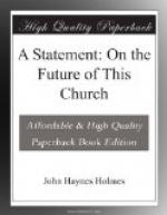 A Statement: On the Future of This Church by