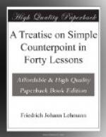 A Treatise on Simple Counterpoint in Forty Lessons by