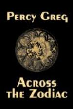 Across the Zodiac by Percy Greg