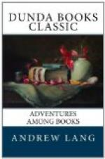 Adventures Among Books by Andrew Lang