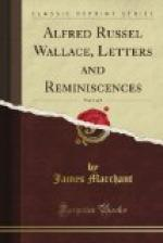 Alfred Russel Wallace: Letters and Reminiscences, Vol. 1 by