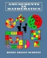 Amusements in Mathematics by Henry Dudeney