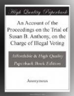 An Account of the Proceedings on the Trial of Susan B. Anthony, on the Charge of Illegal Voting by