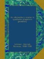 An Elementary Course in Synthetic Projective Geometry by