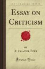 An Essay on Criticism by
