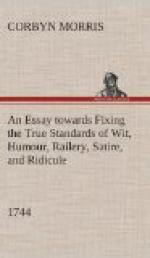 An Essay towards Fixing the True Standards of Wit, Humour, Railery, Satire, and Ridicule (1744) by