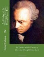 An Outline of the History of Christian Thought Since Kant by