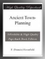 Ancient Town-Planning by